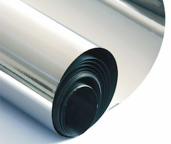 Stainless steel foil surface